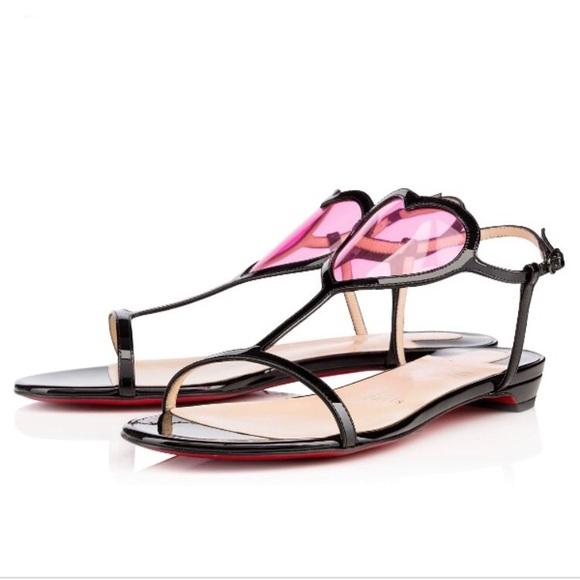 ee92374a0a8f Christian Louboutin Shoes - • Christian Louboutin • Cora Heart PVC Sandal 40